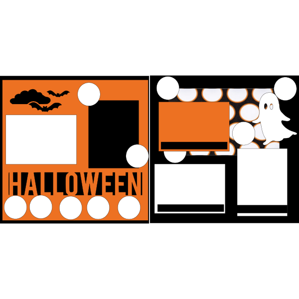 HALLOWEEN **GHOST  -basic page kit