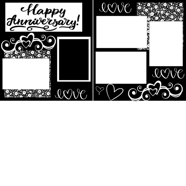 HAPPY ANNIVERSARY  -basic page kit
