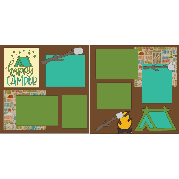 HAPPY CAMPER ---- -basic page kit