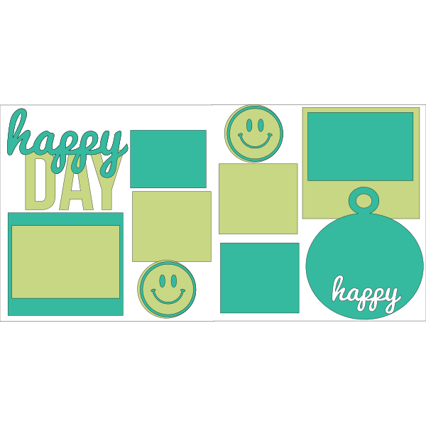 HAPPY DAY  -basic page kit