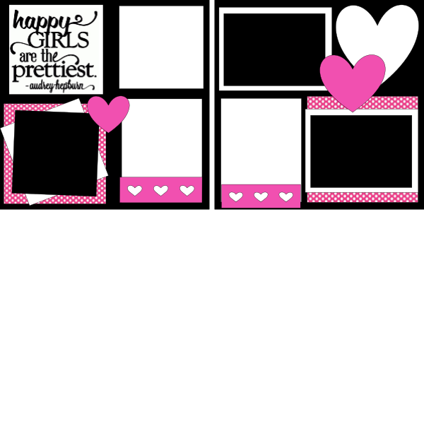 HAPPY GIRLS ARE THE PRETTIEST   -basic page kit