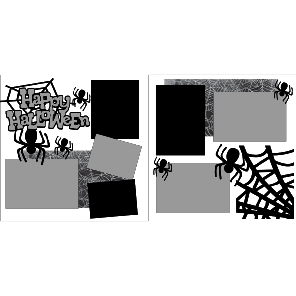 HAPPY HALLOWEEN SPIDERS  -basic page kit