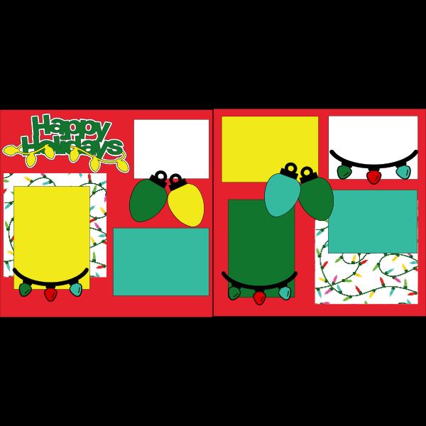 HAPPY HOLIDAY CHRISTMAS LIGHTS  -basic page kit