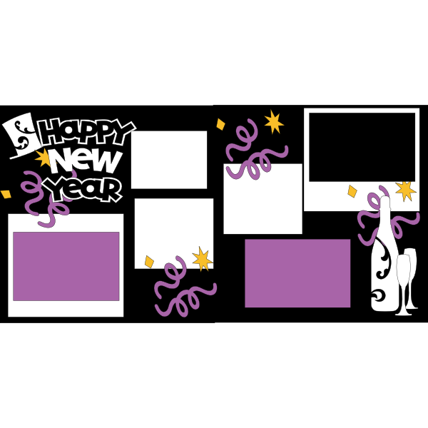 HAPPY NEW YEAR 2018 *  Page kit