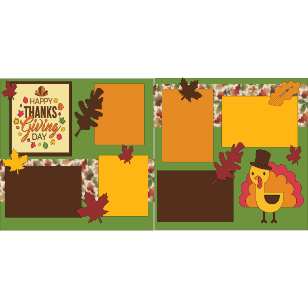 HAPPY THANKSGIVING DAY -basic page kit