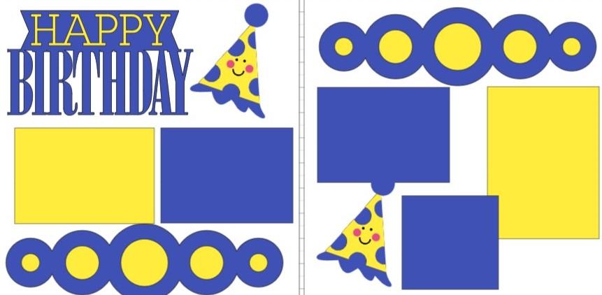 HAPPY BIRTHDAY {BOY} -  page kit