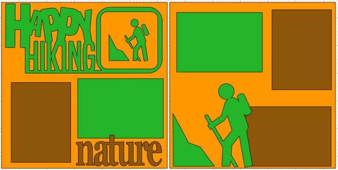 Happy hiking  -  page kit