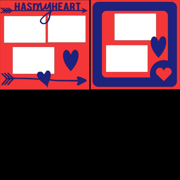 HAS MY HEART (BOY)  -basic page kit