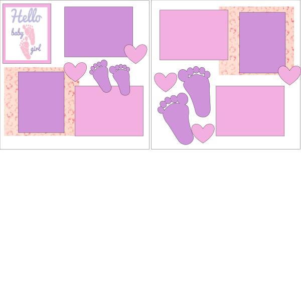 HELLO BABY GIRL  -basic page kit