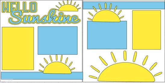 HELLO SUNSHINE  -  page kit
