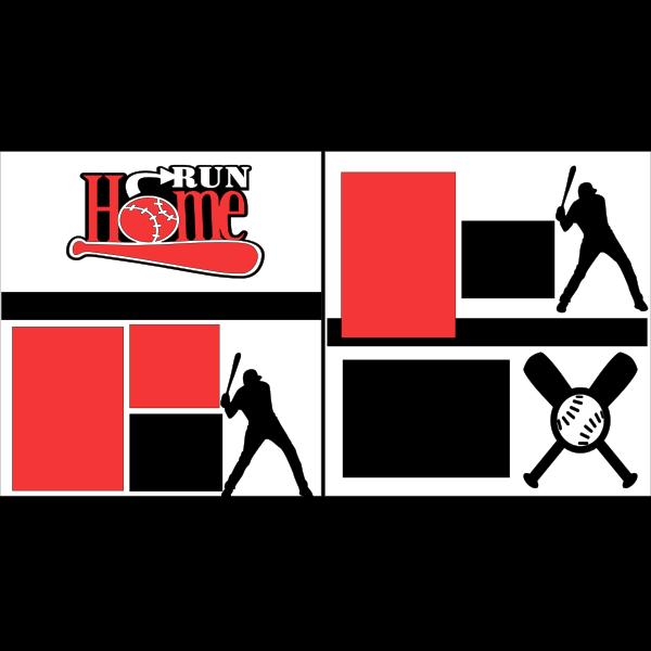 HOMERUN --BASEBALL -basic page kit
