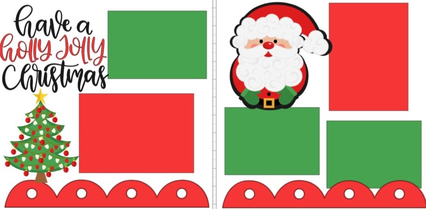 HOLLY JOLLY CHRISTMAS -  page kit