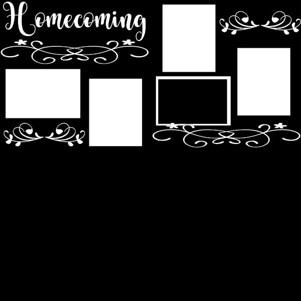 HOMECOMING NIGHT   -basic page kit