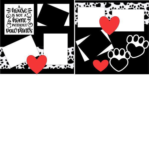 A house is not a home without paw prints   page kit
