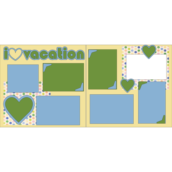 I LOVE VACATION  -basic page kit