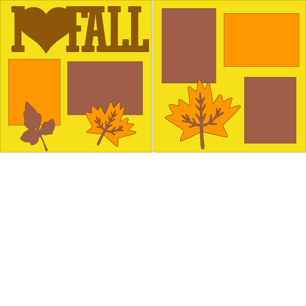 I LOVE FALL  -basic page kit