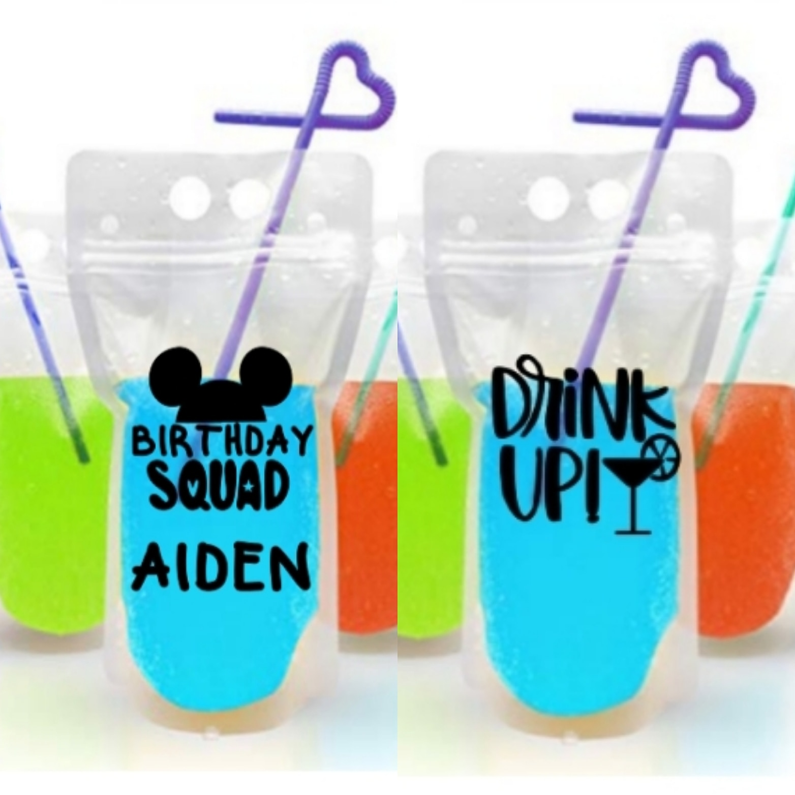 Personalized Juice Pouches! (Set of 5)