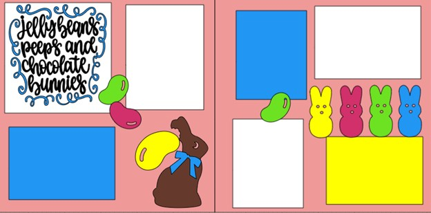 EASTER- Jelly beans Peeps and chocolate bunnys  -  page kit
