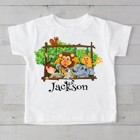JUNGLE PALS T-SHIRT TODDLERS PERSONALIZED