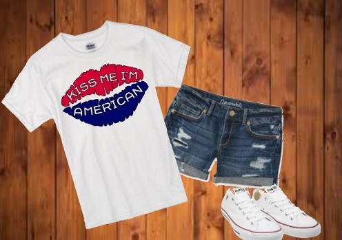 KISS ME I'M AMERICAN T-SHIRT  special