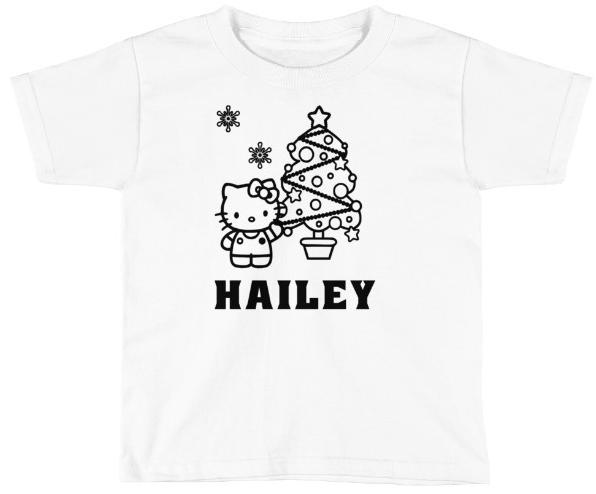 CHRISTMAS HELLO KITTY COLORING SHIRT