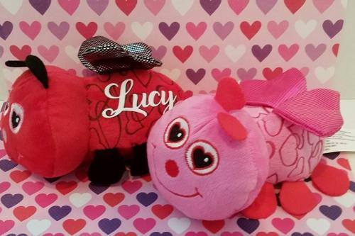 PERSONALIZED VALENTINES DAY LOVE BUG  (PINK)