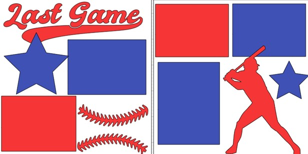 LAST GAME BASEBALL DIE CUTS ONLY