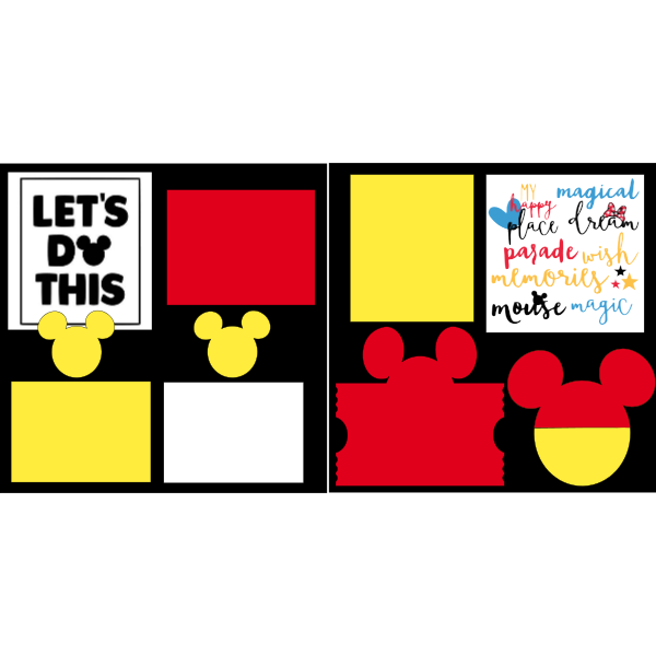 LET'S DO THIS  -DISNEY -basic page kit