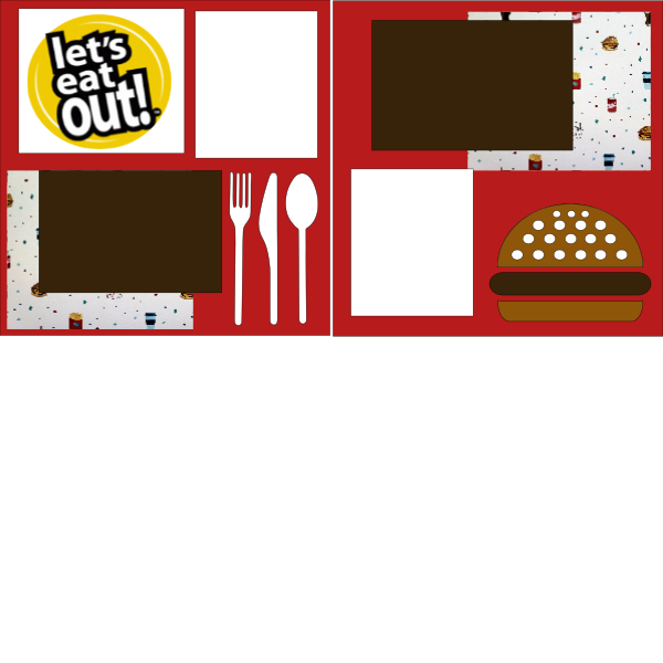 LET'S EAT OUT  -basic page kit