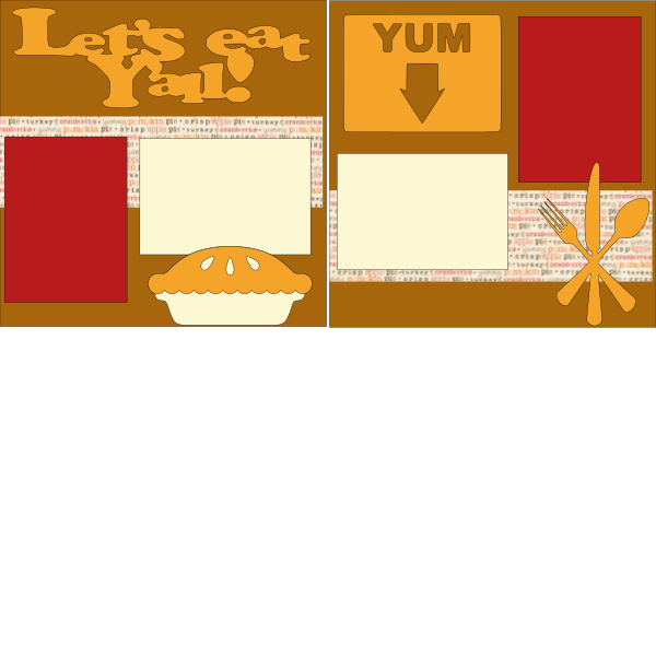 LET'S EAT YA'LL THANKSGIVING   -basic page kit