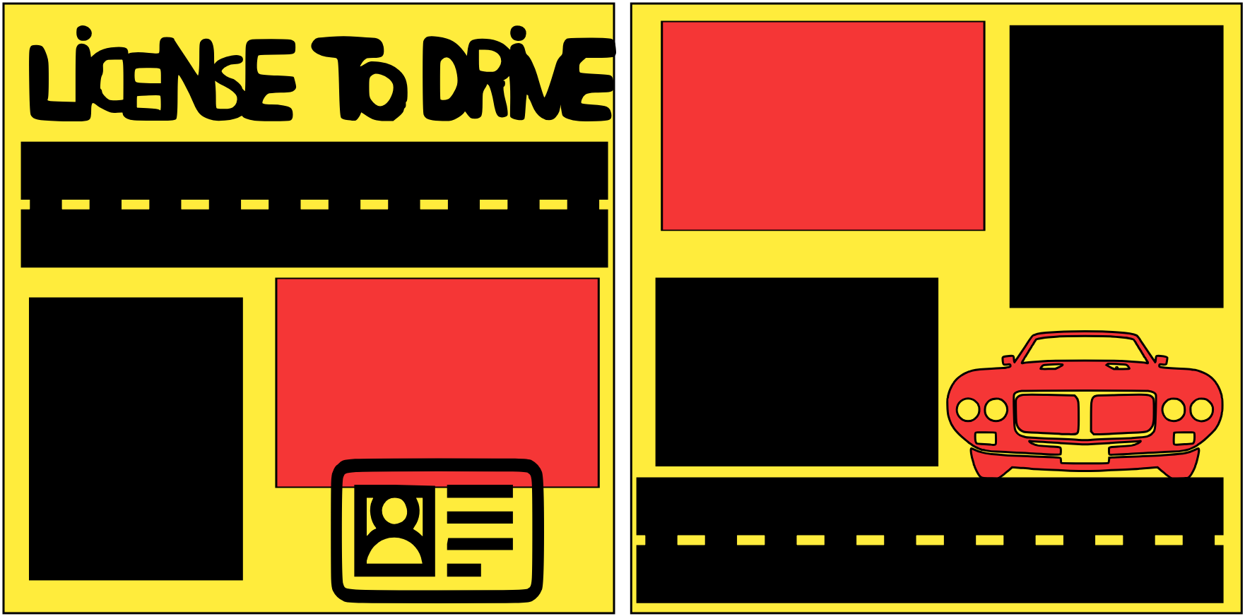 LICENSED TO DRIVE  -basic page kit