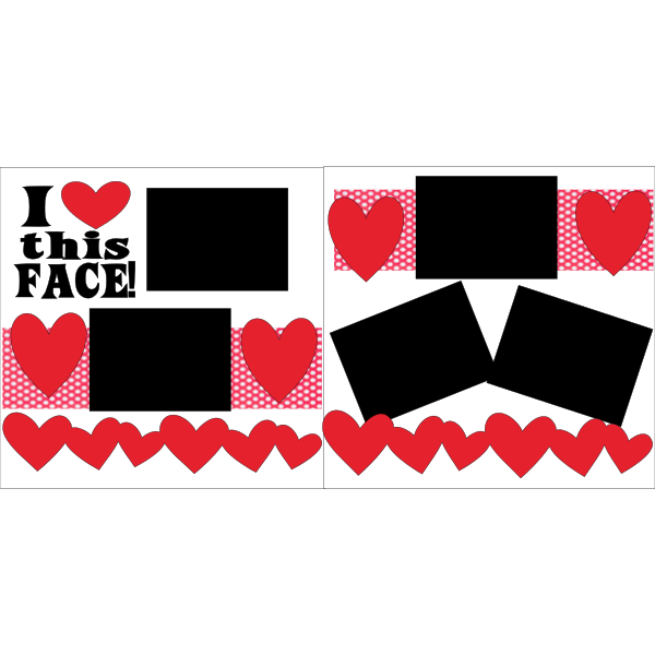 I LOVE THIS FACE  -basic page kit