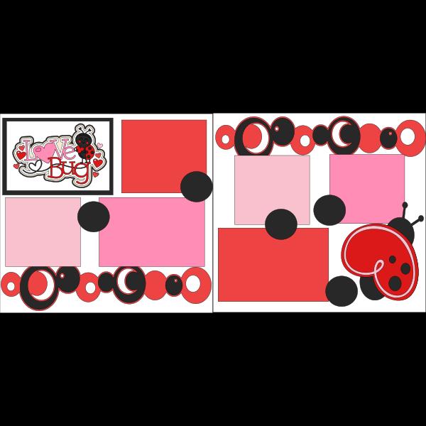LITTLE LOVE BUG LADYBUG  -basic page kit