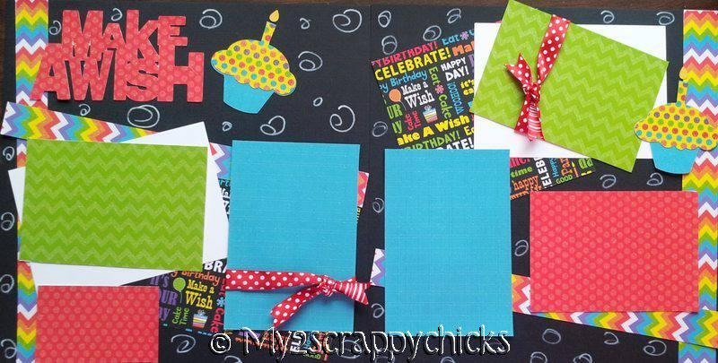 MAKE A WISH BIRTHDAY page kit
