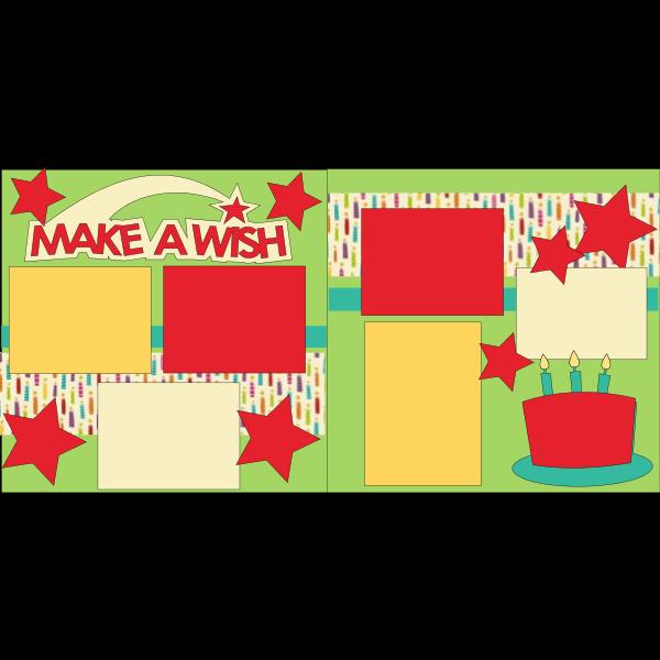 BIRTHDAY MAKE A WISH -basic page kit