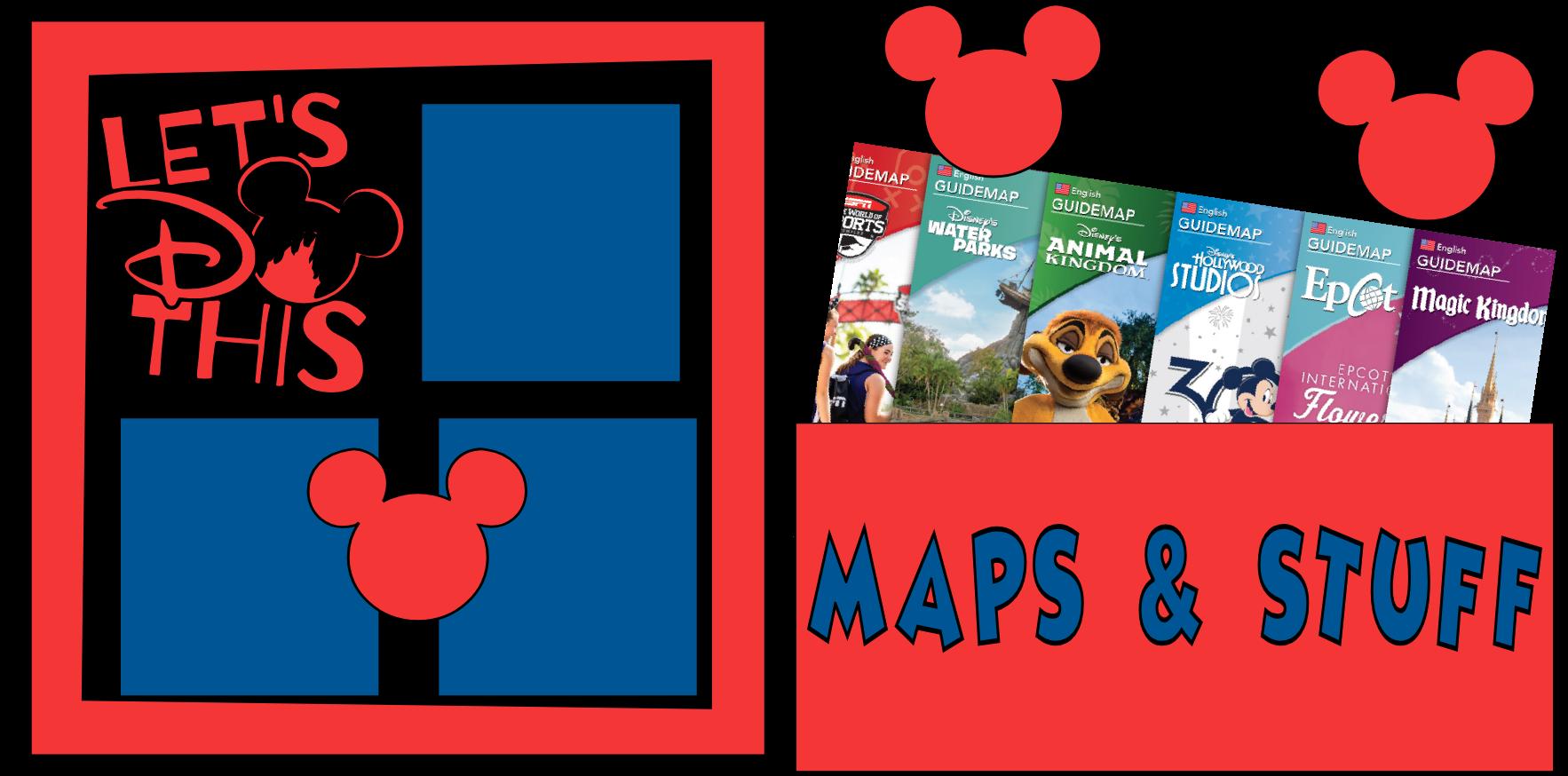 DISNEY MAPS & STUFF --  page kit