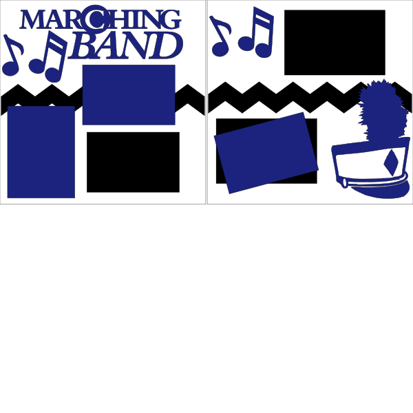 MARCHING BAND PERSONALIZED COLORS  -  page kit