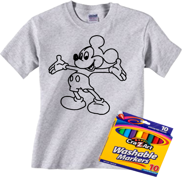 MICKEY COLORING  TEE