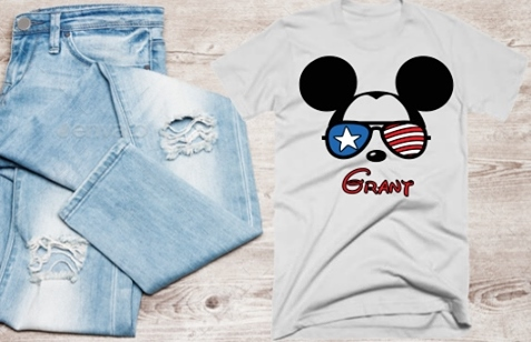 DISNEY PATRIOTIC MICKEY SHIRT