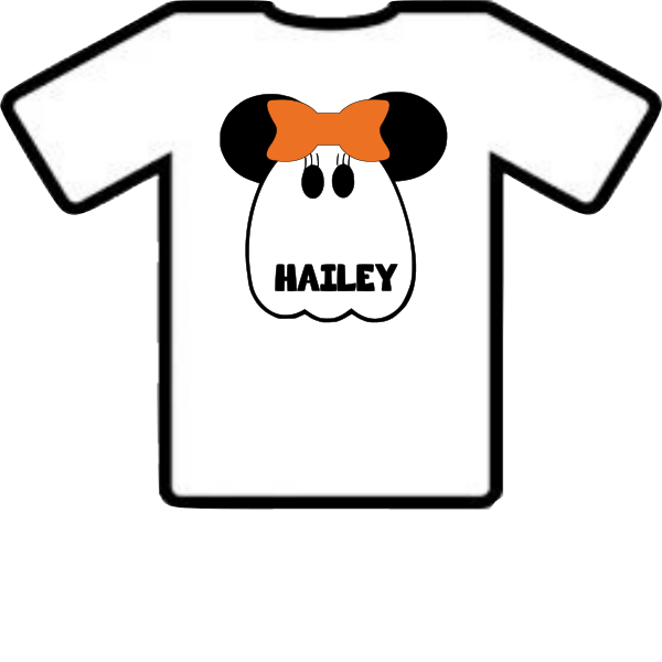 MINNIE MOUSE GHOST PERSONALIZED SHIRT