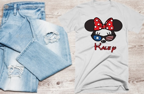 DISNEY PATRIOTIC MINNIE SHIRT