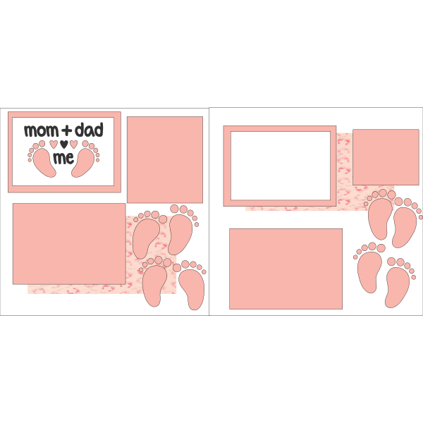 MOM + DAD = ME GIRL  -basic page kit