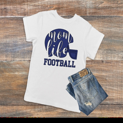 MOM LIFE FOOTBALL SHIRT