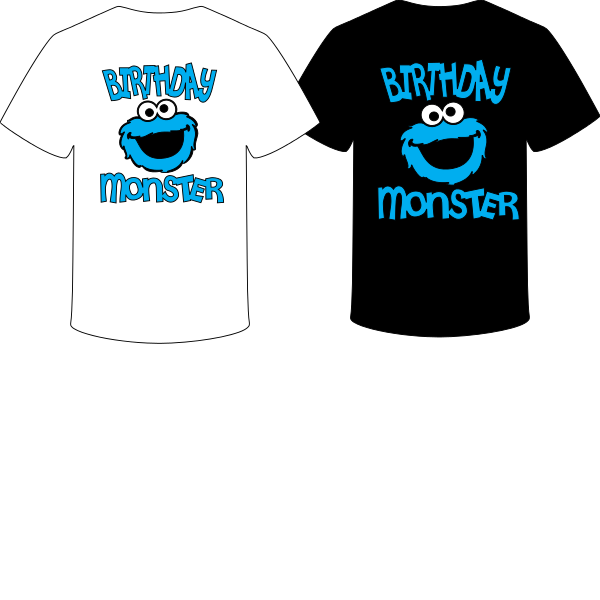 T-SHIRT BIRTHDAY MONSTER