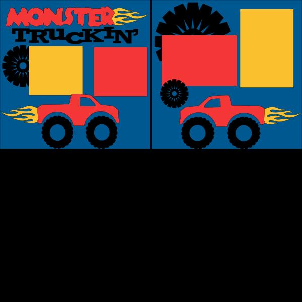 MONSTER TRUCKIN  page kit