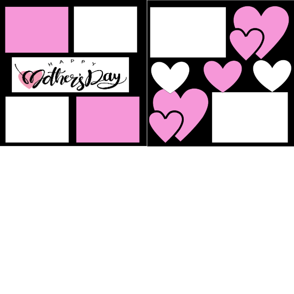 MOTHER'S DAY (HEARTS)  -basic page kit