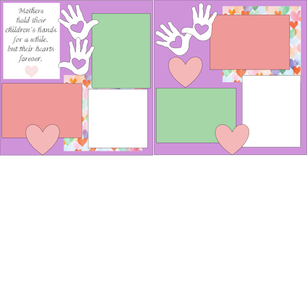MOTHER'S HOLD THEIR CHILDRENS HANDS  -basic page kit
