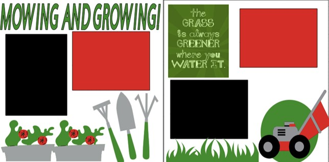 MOWING AND GROWING  -  page kit