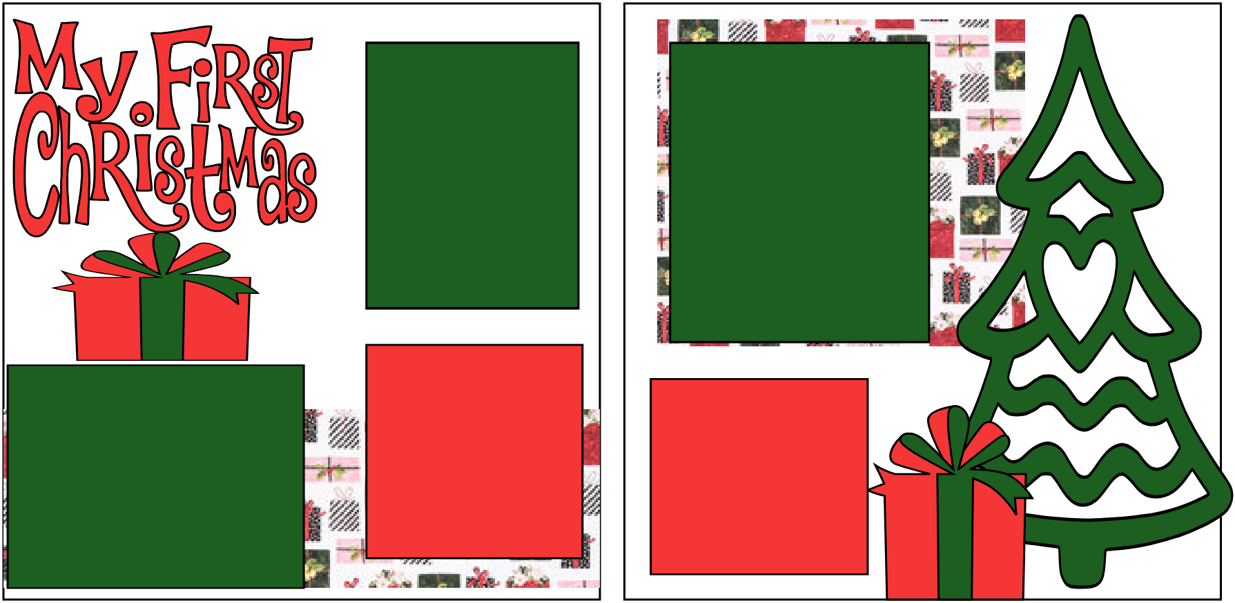 MY FIRST CHRISTMAS !   -basic page kit