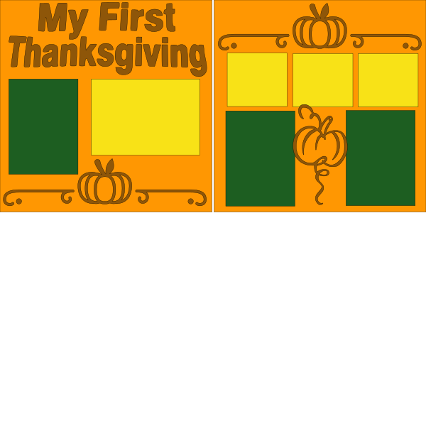MY FIRST THANKSGIVING !   -basic page kit